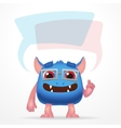 Comic Blue education monster Cute character with vector image