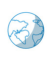 contour earth planet with global geographys vector image