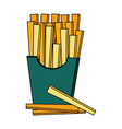 fast food french fries icon vector image