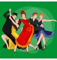 Girl flamenco dancer in red dress spanish vector image