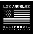 LA t-shirt design vector image