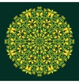 Round pattern in islamic style vector image