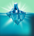 Snow Iceberg Water Mountain Background vector image