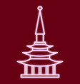 the chinese pagoda vector image