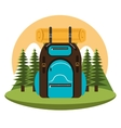 camping bag isolated icon design vector image