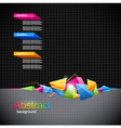 Background with colored geometric abstraction vector image vector image
