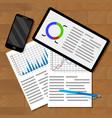 infographics exchange statistics vector image