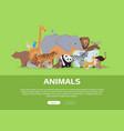 animals banner website template vector image vector image