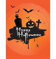 Grunge Halloween background vector image