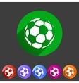 Football soccer icon flat web sign symbol logo vector image