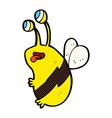 Comic cartoon funny bee vector image