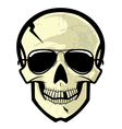 skull with sunglasses vector image vector image