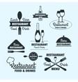 restaurant retro badge vector image