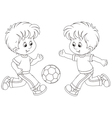 Little football players vector