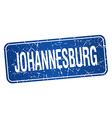 Johannesburg blue stamp isolated on white vector image