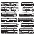 Bus and coach silhouettes vector image