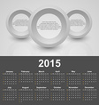 Calendar 2015 year template with business abstract vector image