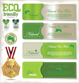 Eco signs labels and emblems vector image