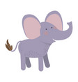 elephant cartoon colorful silhouette in white vector image