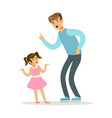 father character scolding his daughter vector image