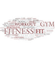 fitness word cloud concept vector image