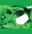green ribbon over white background design element vector image
