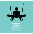 Rings Gymnastics vector image