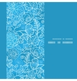 blue field floral texture vertical frame seamless vector image