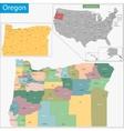 Oregon map vector image