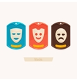 Set Masks vector image