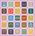 Dressing line flat icons on pink background vector image