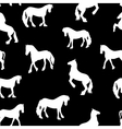 Black Horse Silhouette Seamless Pattern vector image vector image
