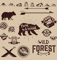 Set of the Camping outdoor labels and design vector image vector image