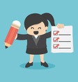 business woman Checklist vector image