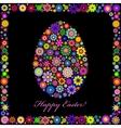 colorful easter egg on black background vector image