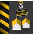 crane hang sing house under construction vector image