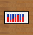 Digital tablet with finance analytics vector image