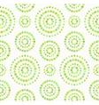 Dots circles seamless pattern in shades of green vector image