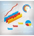 graph infographic element vector image
