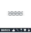 Ocean or sea icon flat vector image