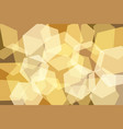 orangeyellow gold hexagon abstract background vector image
