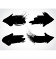 Arrows grunge set vector image vector image