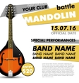 Mandolin Festival poster battle live concert vector image