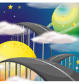 A road going to the sky vector image vector image