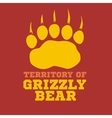 footprint grizzly bear - vector image vector image