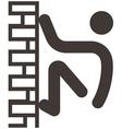 parkour icon vector image
