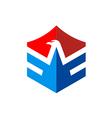 eagle wing fly abstract emblem logo vector image