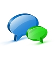 Chat or website support concept vector image
