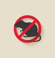 rat warning sign vector image