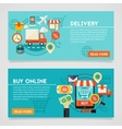Buy Online And Delivery Concept vector image